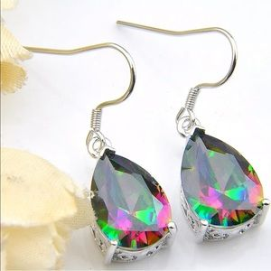 Jewelry - Sterling Silver Rainbow Mystic Topaz Earrings